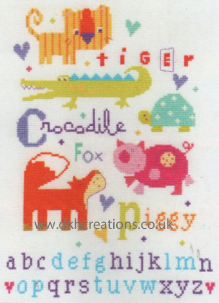 Animal Alphabet Sampler Cross Stitch Kit